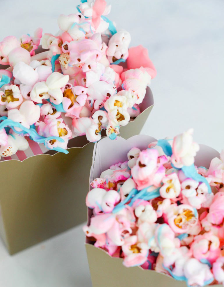 unicorn party food - unicorn popcorn