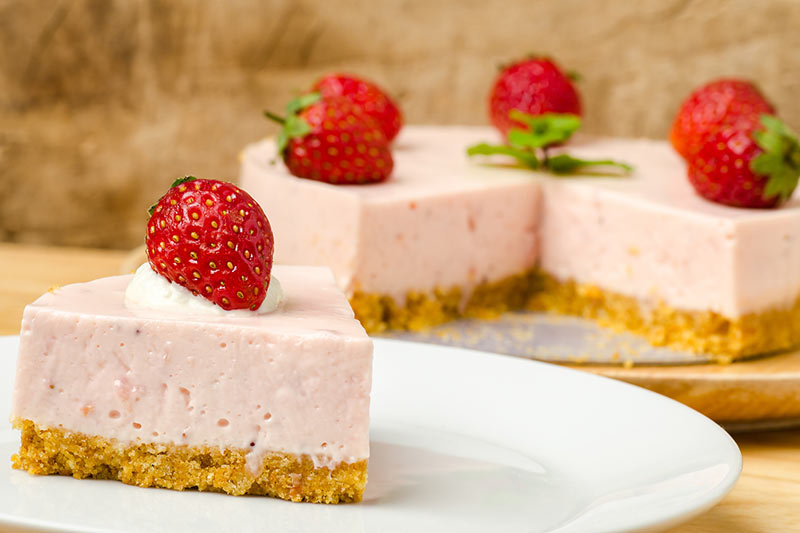 no bake strawberry cheesecake