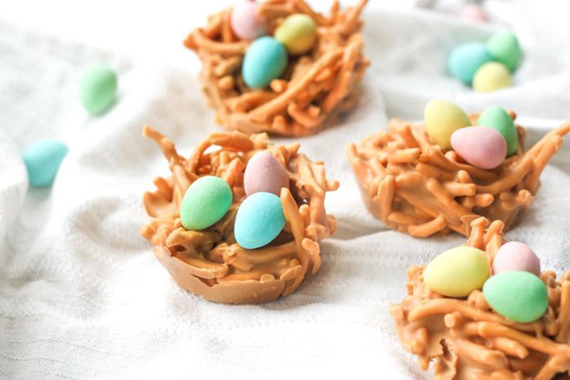 Easter, mini eggs, birdsnest
