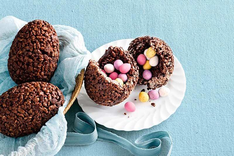Easter, mini eggs, chocolate crackle egg