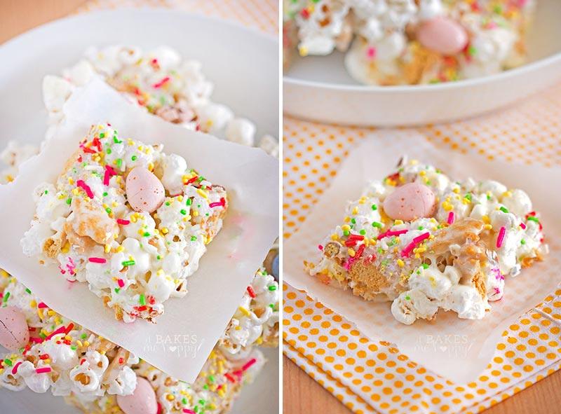 Easter, mini eggs, popcorn bars