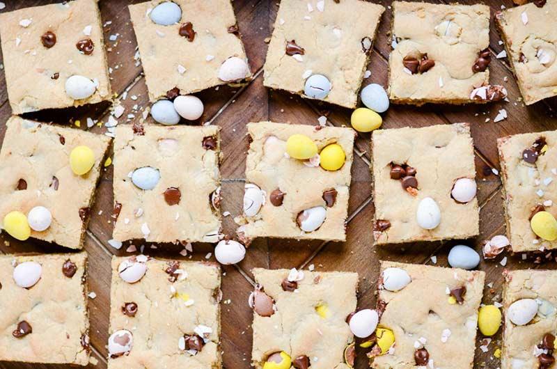 Easter, mini eggs, cookie bars