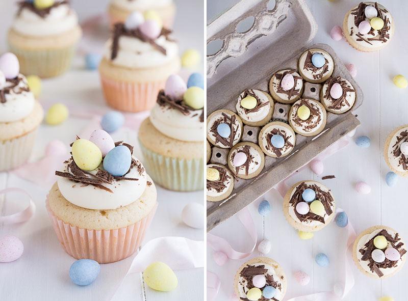 Easter, mini eggs, cupcake