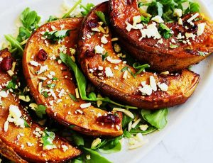 Maple Roasted Pumpkin, Rocket and Feta Salad
