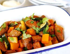 Sausage and vegetable curry