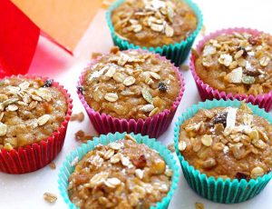 apple and muesli muffins
