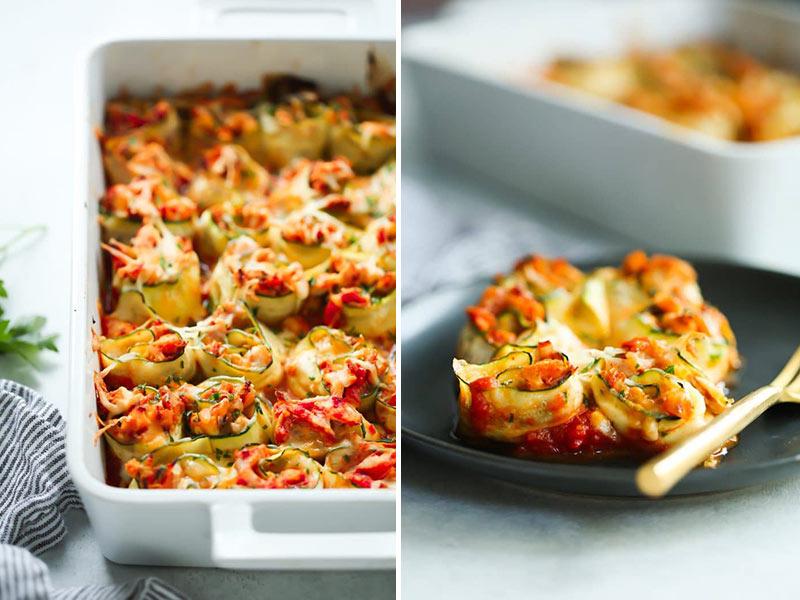 chciken zucchini rolls