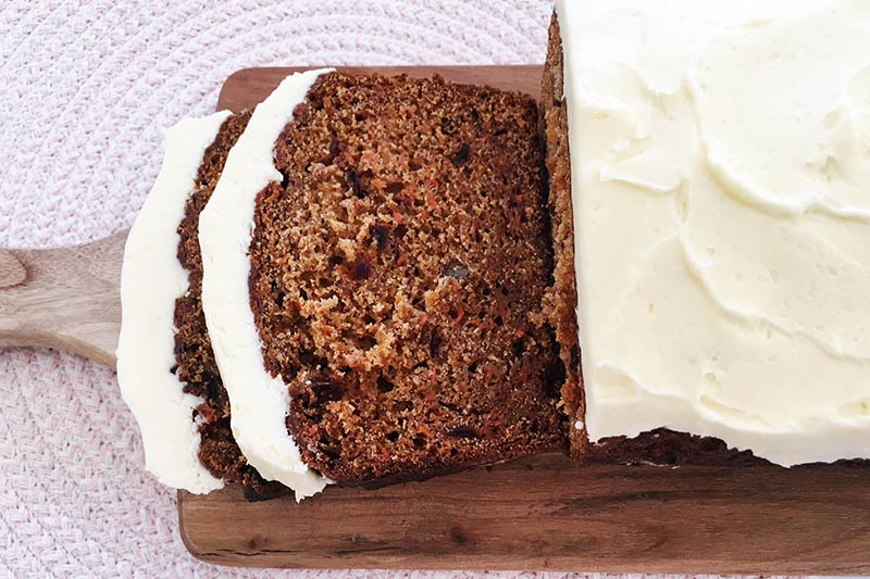 carrot and date loaf, cake
