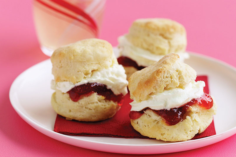 scones jam and cream