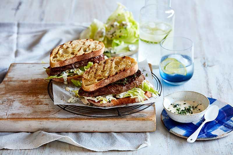 blue cheese steak sandwich