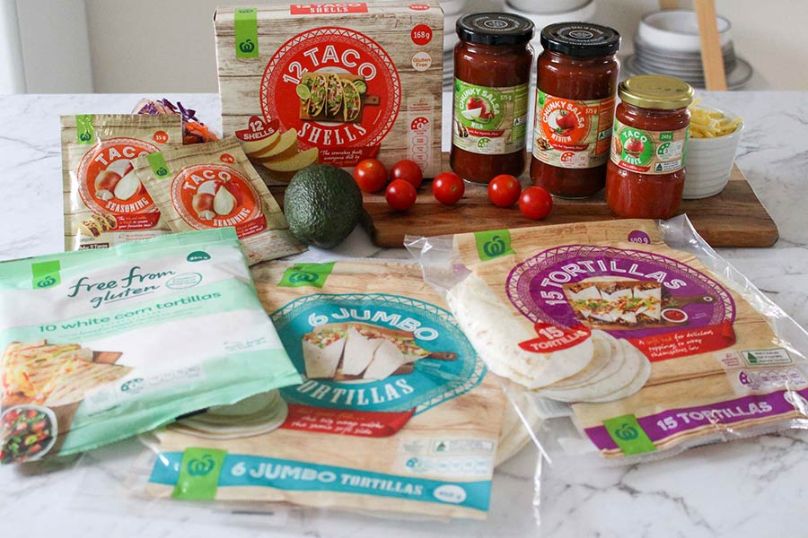 Woolworths Mexican grocery product range