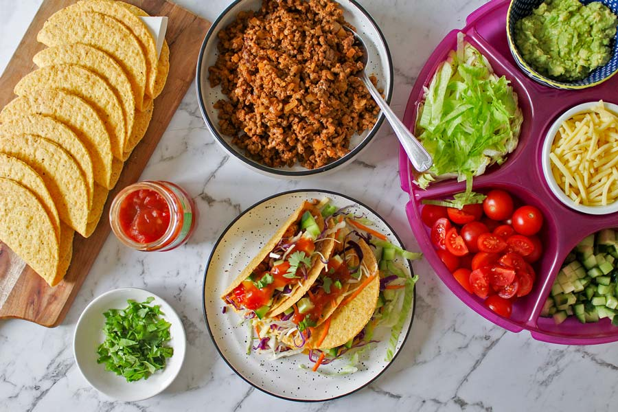 Family taco night with Woolworths Mexican range